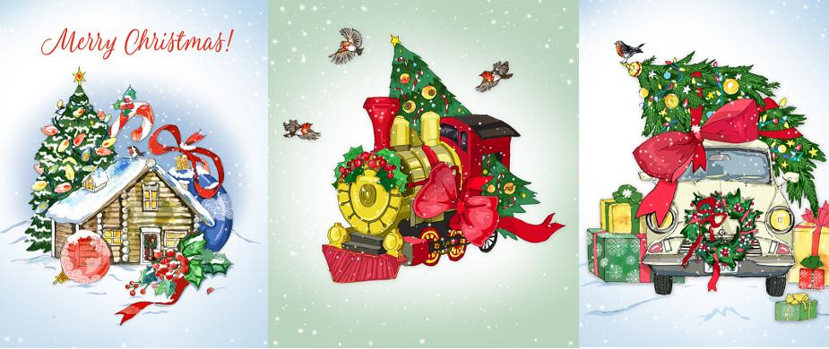 Weihnachtskarten Clear Creations