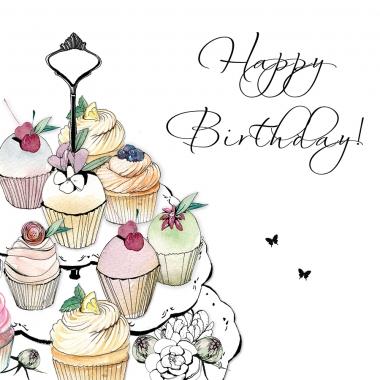 Glückwunschkarte Cupcake Tray