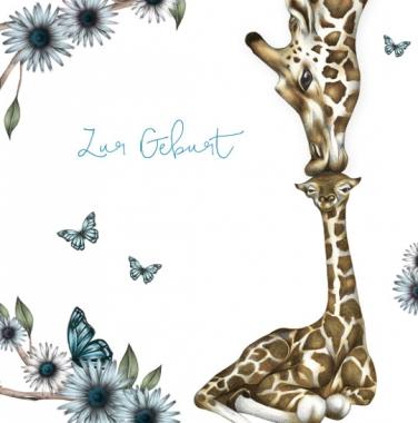 Glückwunschkarte Giraffe Junge