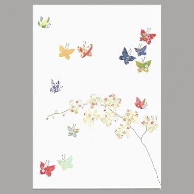 Grusskarte Schmetterling und Orchideen