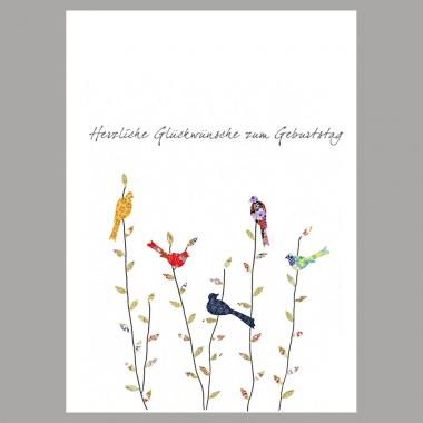 Doppelkarte Frühlingsvögel