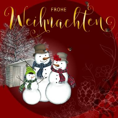 Weihnachtskarte Schneemänner