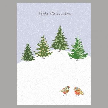 Weihnachtskarte Am Wald