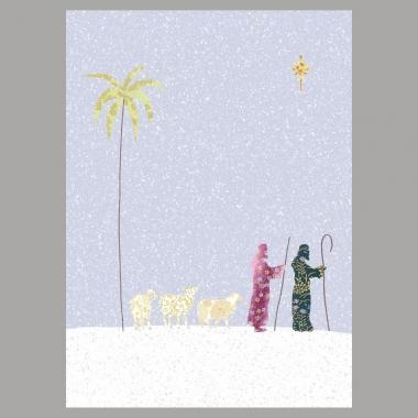 Weihnachtskarte Die Hirten
