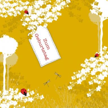 Glückwunschkarte Glückskäfer