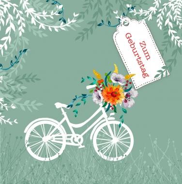 Glückwunschkarte Fahrrad