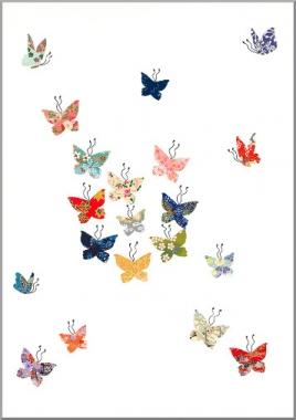 Grusskarte Schmetterlingswolke