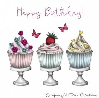 Grusskarte Cupcakes