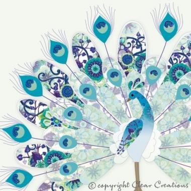 Grusskarte Peacock