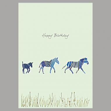 Doppelkarte Drei Zebras