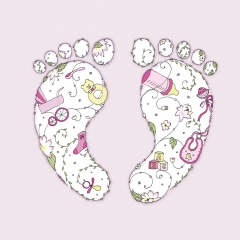 Glückwunschkarte Füße Mädchen