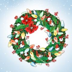 Weihnachtskarte Kranz