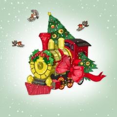 Weihnachtskarte Zug