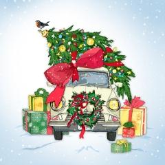 Weihnachtskarte Auto