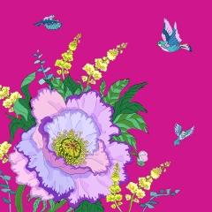 Grusskarte Lila Mohnblume