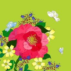 Grusskarte Camellia