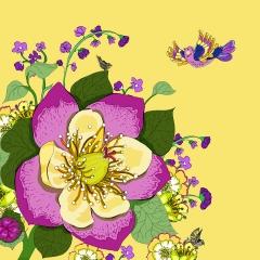 Grusskarte Botanik