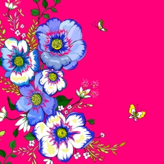 Grusskarte Blaue Gänseblümchen