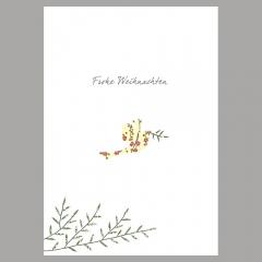 Weihnachtskarte Friedenstaube