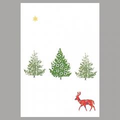 Weihnachtskarte Deer