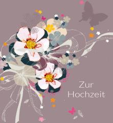 Hochzeitskarte Kakao-Bouquet