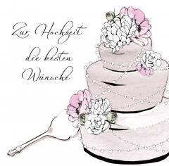 Hochzeitskarte Die Torte