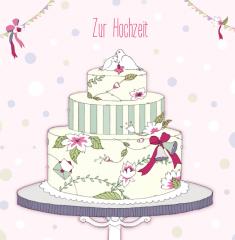 Hochzeitskarte Torte