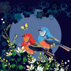 Doppelkarte Vögelchen