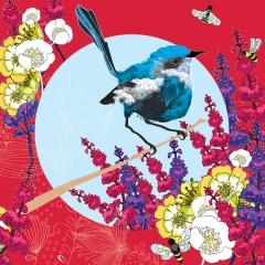 Doppelkarte Bluebird