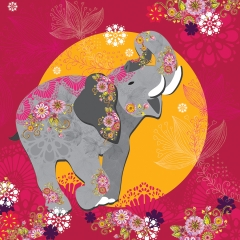 Doppelkarte Elefant