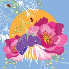 Doppelkarte Blumen