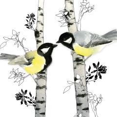 Doppelkarte Birdtalk