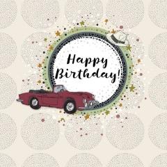 Geburtstagskarte Auto
