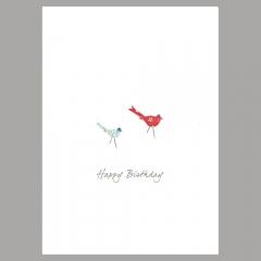 Doppelkarte Zwei Vögel