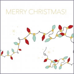 Weihnachtskarte Lichterkette