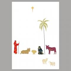 Weihnachtskarte Krippenszene