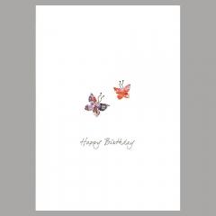Doppelkarte Zwei Schmetterlinge