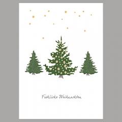 Weihnachtskarte Wald