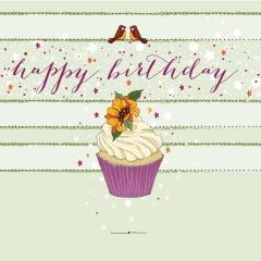 Glückwunschkarte Cupcake