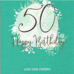 Glückwunschkarte Lass uns feiern