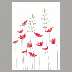 Doppelkarte Anemonen