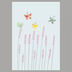 Doppelkarte Lavendel