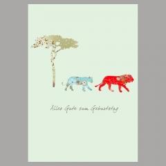 Glückwunschkarte Löwe