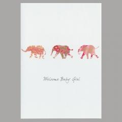 Glückwunschkarte Elephant Girl