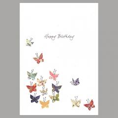 Doppelkarte Butterfly Kaleidoscope