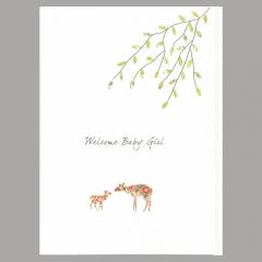 Glückwunschkarte Deer Girl