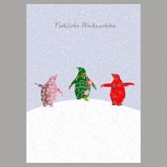 Weihnachtskarte Pinguine II