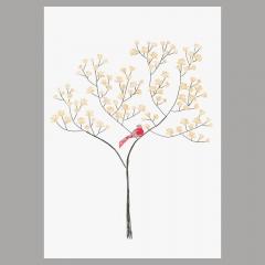 Doppelkarte Magnolienbaum