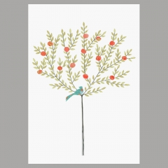 Doppelkarte Orangenbaum