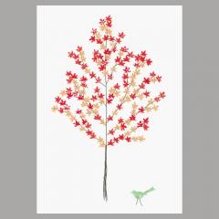 Doppelkarte Ahornbaum